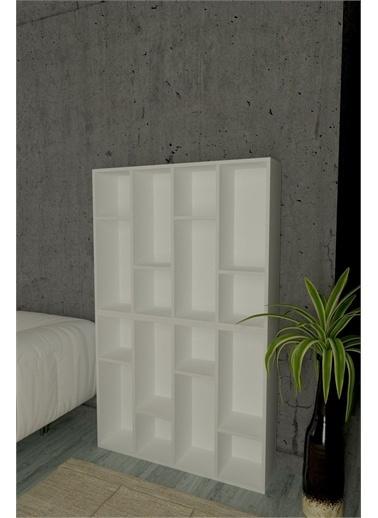 Mobitopya Dekoratif Kitaplık / Beyaz 2'Li Beyaz